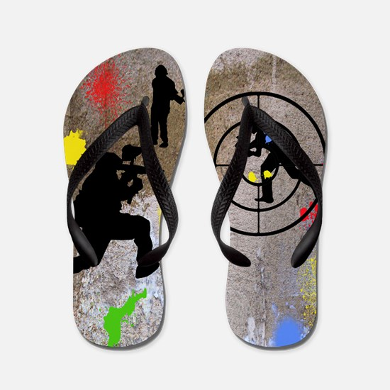 pAINTBALL aIM TWIN Flip Flops
