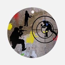 pAINTBALL aIM TWIN Round Ornament