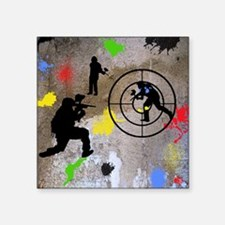 "Paintball Aim Queen Square Sticker 3"" x 3"""