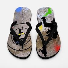 Paintball Aim Queen Flip Flops