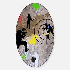 pAINTBALL aIM TWIN Sticker (Oval)