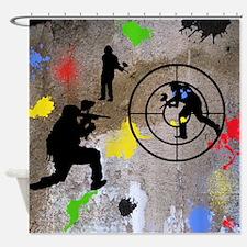 Paintball Aim Queen Shower Curtain