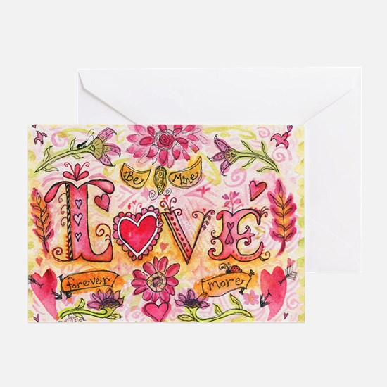 LoveBeMine Greeting Card
