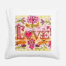 LoveBeMine Square Canvas Pillow