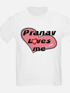 pranav loves me Kids T-Shirt