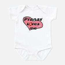 pranav loves me  Infant Bodysuit