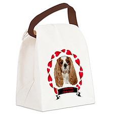 dexheartframebannerblack Canvas Lunch Bag