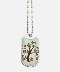 Autism Tree of Life Dog Tags