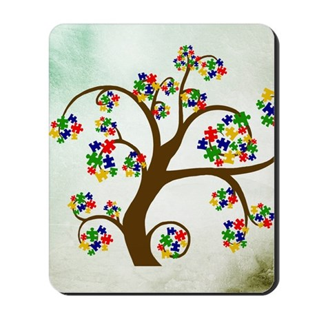 Autism Tree of Life Mousepad