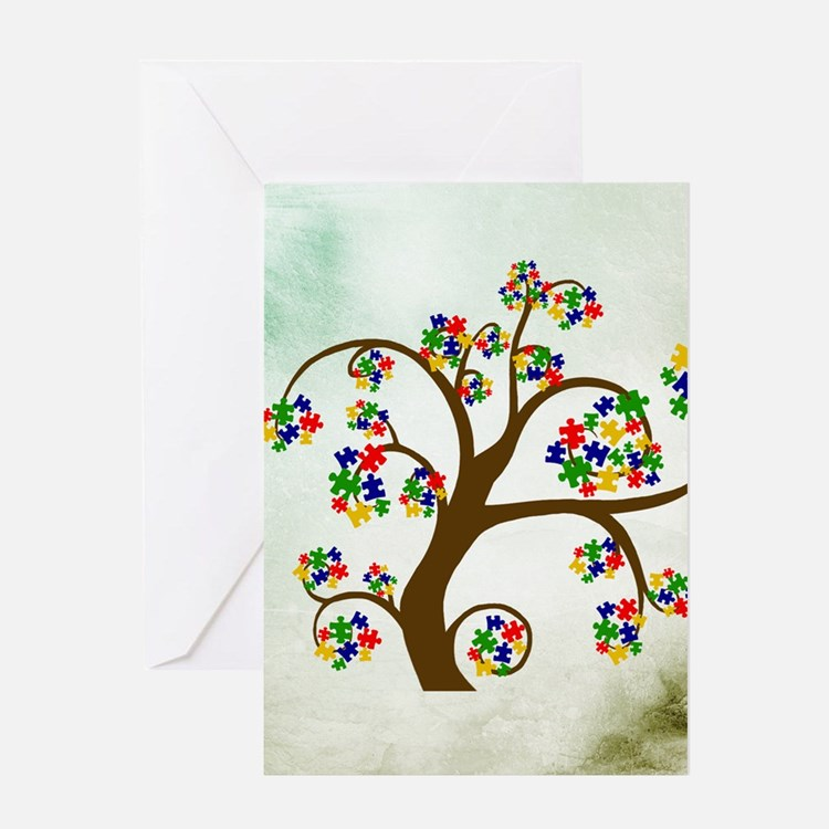 Autism Tree of Life Greeting Card