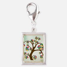 Autism Tree of Life Silver Portrait Charm
