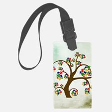 Autism Tree of Life Luggage Tag
