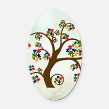Autism Tree of Life Oval Car Magnet