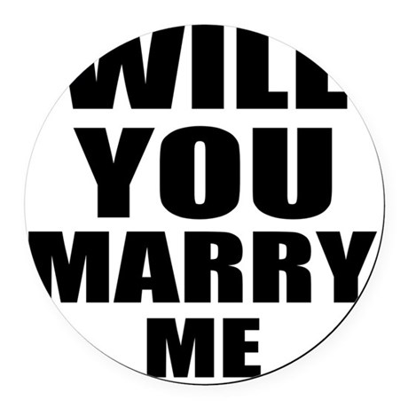 Will you marry me Round Car Magnet