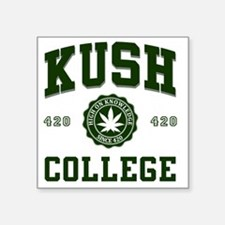 "KUSH_COLLEGE_ Square Sticker 3"" x 3"""