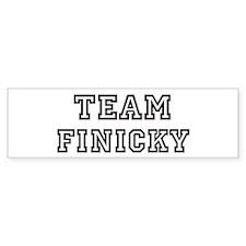 Team FINICKY Bumper Bumper Sticker