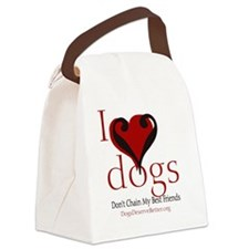 ilovedogsbutton Canvas Lunch Bag