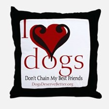 ilovedogsbutton Throw Pillow