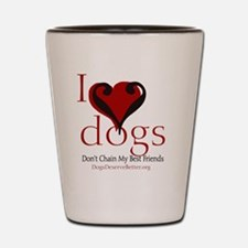 ilovedogsbutton Shot Glass
