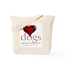 ilovedogsbutton Tote Bag