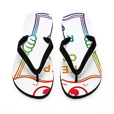 read-on-rainbow Flip Flops