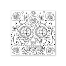 "calavera_glass Square Sticker 3"" x 3"""