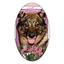 PinkTulipsVallhund_5x7_V Decal
