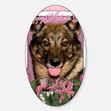 PinkTulipsVallhund_5x7_V Decal