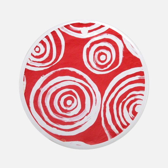 Swirls2 Round Ornament