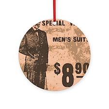 Mens Suits Round Ornament
