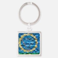 Soulful Chakra Square Keychain
