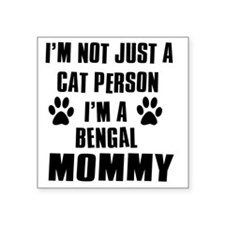 "Bengal Square Sticker 3"" x 3"""