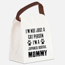 Japanese Bobtail Canvas Lunch Bag