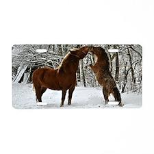 Winter's Kiss Aluminum License Plate