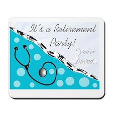 Nurse retirement party 2012 BLUE Mousepad