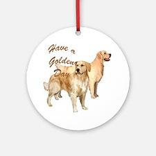 golden day Round Ornament