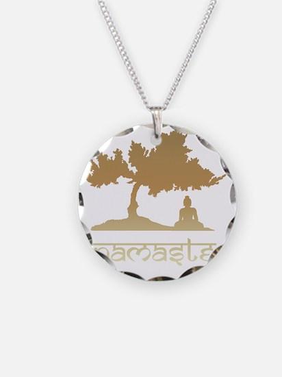 namaste8 Necklace Circle Charm