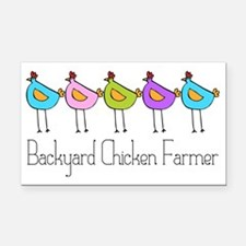 chick-dots-3 Rectangle Car Magnet
