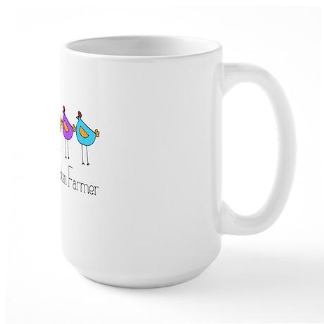 chick-dots-3 Large Mug