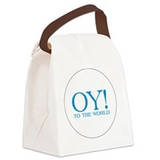 oy to the world white Canvas Lunch Bag