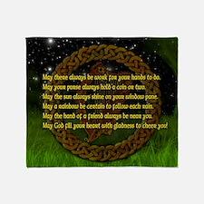 IRISH-BLESSING-14x10_LARGE-FRAMED-pr Throw Blanket