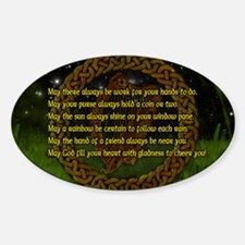 IRISH-BLESSING-14x10_LARGE-FRAMED-p Sticker (Oval)