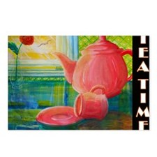 tea-time-2-14x10_LARGE-FR Postcards (Package of 8)