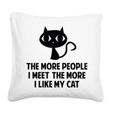 peopleCat1A Square Canvas Pillow