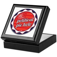 Political-Pie-Hole-Vector-Badge-No-Ri Keepsake Box