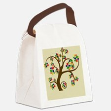Autism Tree of Life Canvas Lunch Bag