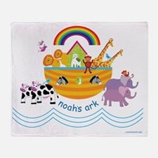 Noahs Ark Animals Throw Blanket