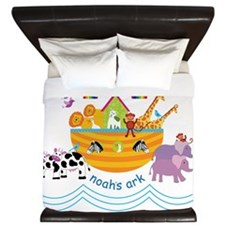 Noahs Ark Animals King Duvet