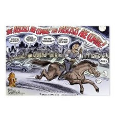 ron_paul_revere_cartoon Postcards (Package of 8)