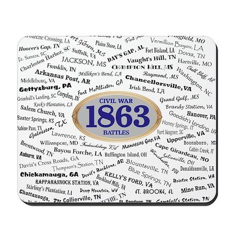 Battles - 1863 Mousepad